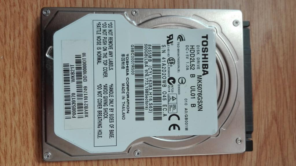 Slika: HDD Toshiba 500GB nizak health