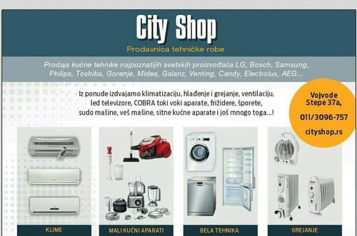 Slika: Prodaja tehnicke robe City shop